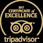 Certificat d'excellence délivré par TripAdvisor
